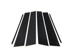 画像1: AutoStyle ブラックカーボンピラーパネル 6pcs ゴルフ7 【お取寄せ商品】
