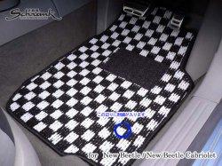 画像1: FOB-STYLE 車種専用フロアマット 運転席1枚 (チェック/ストッパー:回転タイプ)