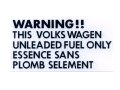 WARNING Fuelステッカー VOLKSWAGEN