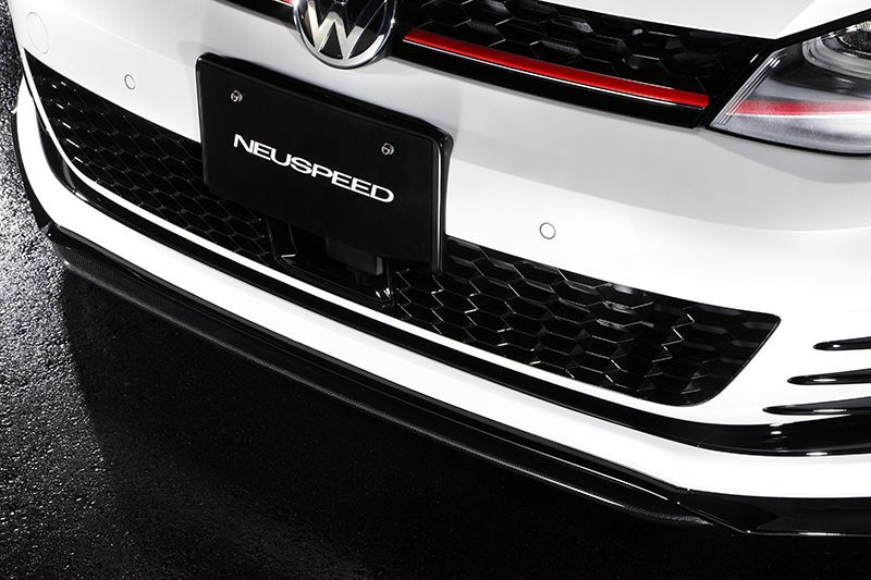 iSWEEP フロントカーボンスプリッター(カーボン) for Golf 7 GTI