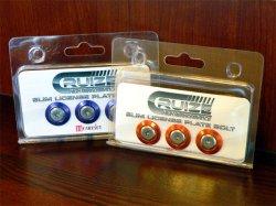 画像2: 【今月の特価商品】CRUIZE スリムナンバーボルト&カラーワッシャー 3個セット 全9色