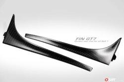 画像1: OSIR FIN GT7 カーボンリアウインドウ フィンスポイラー 2pcs for Golf7 GTI/R