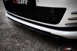 画像1: OSIR FCS GT7 DF-1 CF カーボンフロントセンターリップ for Golf7 GTI