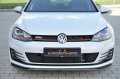 KERSCHER TUNING Frontspoiler Splitter Golf 7 GTI カーボン