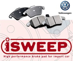 画像1: iSWEEP ブレーキパット for Volkswagen (フロント用)