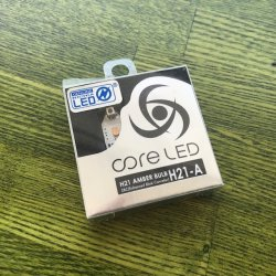 画像1: core-LED H21-A AMBER BLUB 2pcs