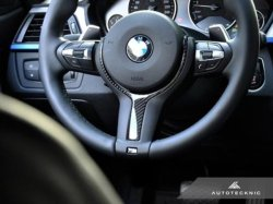 画像1: AUTOTECKNIC Carbon Steering Wheel Trim for F30 / F31 / F32 M-Sport