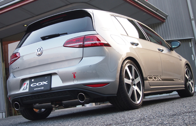 COXステンレスマフラー VW Golf 7 GTI用 (Black Tail)